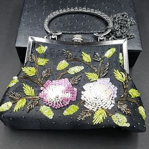 Vintage CEM Sequined Beaded Purse Crossbody